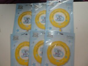"""JOB LOT 6 X 18"""" FOIL BALLOONS - NEW IN PACK HELIUM / AIR - AGE 50 50TH BIRTHDAY"""