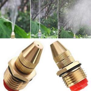 Brass Low Pressure Water Fog Mist Nozzle Misting Spray Sprinkler Head Mist  JJ