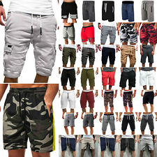 Mens Casual Shorts Cargo Pants Sports Sweat Shorts Jogging Trainging Bottoms