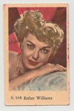 1957 VINTAGE DUTCH GUM S SET ESTHER WILLIAMS CARD #168 VERY GOOD CONDITION