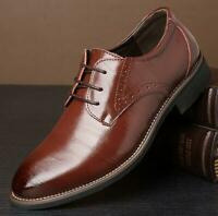 Oxfords Mens Wedding Pumps Business Leather Lace Up Casual Outdoor Dress Shoes