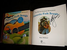 Peter Yarrow signed Favorite Folk Songs hardcover book w/12 song CD