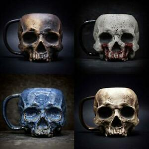 Skull Steel Mug Heap Death Mountain Beer Stein Tankard Coffee Cup Mug