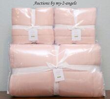 Pottery Barn Portia Cotton Silk Full/Queen Quilt + Shams Soft Rose blush pink