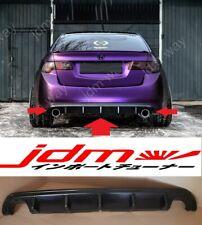For Acura TSX CU Honda Accord 8 Rear Bumper Diffuser Cover Lip 2008-2013 ABS