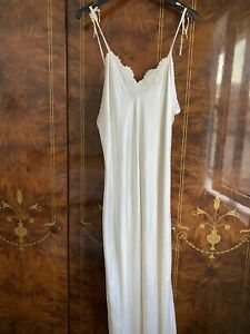 Embroidered White Silk Camisole Sleepwear size IT 50 Made in Italy