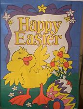 """Easter yard decorations Flag  29"""" x 43"""" Eggs And Ducks. Great Condition  """"A"""""""