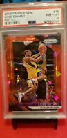 2018-19 Panini Prizm Kobe Bryant  Red Ice PSA Graded NM-MT 8 Beautiful Card