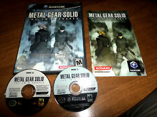 Metal Gear Solid: The Twin Snakes (Nintendo GameCube) wii Complete 2 Disc Rare!
