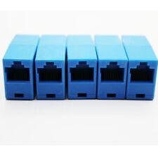 5Pcs Cat5e RJ45 Inline Ethernet Network Patch Cable Coupler, 8P8C Straight,Blue