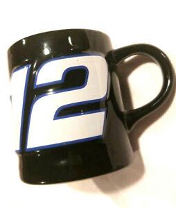 NASCAR Mug Ryan Newman 12 Penske Racing Black Red White Coffee Cup Car Rare