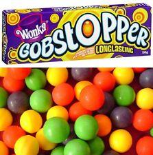 Bulk Lot 12 x Wonka Gobstopper Long Lasting 50g Willy Jawbreaker Candy Lollies