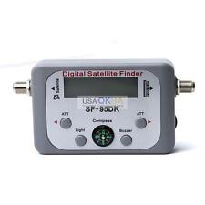 TV Digital Satellite Signal Meter Finder Receiver For DIRECTV DISH FTA W/COMPASS