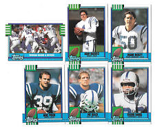 1990 TOPPS NFL FOOTBALL INDIANAPOLIS COLTS TEAM SET (19) GEORGE,RISON,BICKETT