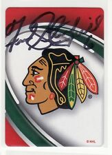 FRED STANFIELD CHICAGO BLACKHAWKS AUTOGRAPHED PLAYING CARD 1964-1965