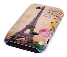 Schutzhülle f Sony Xperia tipo ST21i Tasche Case Cover Paris Eiffelturm Tour