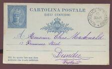 SAN MARINO 1893 FINE USED STATIONERY CARD to SCOTLAND