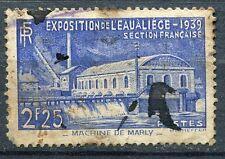 FRANCE TIMBRE OBLITERE N° 430 EXPOSITION DE L EAU LIEGE