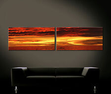 ALL THE LOVE OF THE UNIVERSE - Leinwand Bild Bilder Kunstdruck Orange Rot Gelb
