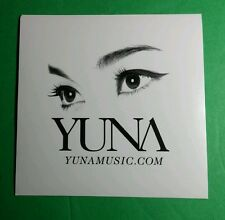 YUNA DECORATE US B&W MUSIC RARE  STICKER