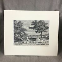 1890 Antique Print East Africa TANZANIA Usagara Simbaweni Mountain Landscape