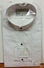 New NEIL ALLYN White Mandarin Collar Pleated Tuxedo Shirt Ring Bearer Boys Large