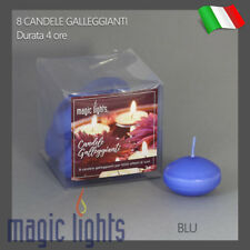 CANDELE GALLEGGIANTI MAGIC LIGHTS CANDELA GALLEGGIANTE 8PZ BLU AUTOSPEGNIMENTO