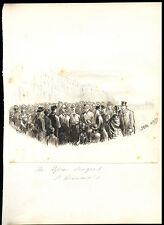 GLEE SINGERS ST.LEONARD'S THERESA ROSE MARRABLE ANTIQUE PEN & INK DRAWING SUSSEX