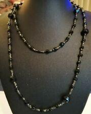 Jet necklace Edwardian French