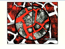 GILBERT & GEORGE POSTCARD 1998 - The Rudimentary Pictures. Blood Attack
