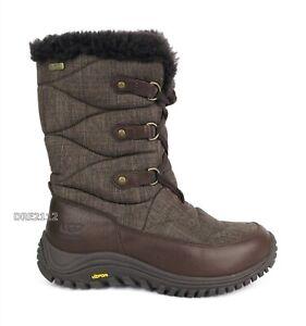 UGG Australia Lorien Wool Stout Waterproof Fur Boots Womens Size 7 *NEW*