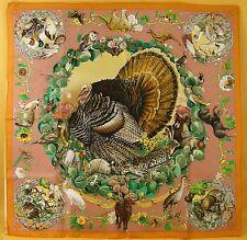 Hermès carre foulard scarf K. OLIVER-Faune et Flor tu texas wild life - #14060