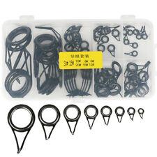 75pcs/Set Saltwater Fishing Rod Tip Stainless Steel Guides Rings Repair Kit