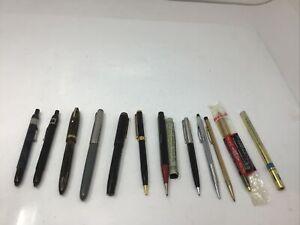 Vintage Pen Pencil Lot Sheaffer Fountain Pen 1000 Brown White Dot Parker etc