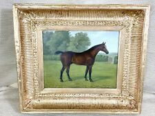 Antique Horse Painting Original Oil Framed Victorian 19th Century Equestrian