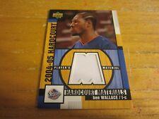 Ben Wallace 2004-05 Upper Deck Hardcourt Materials #BW Relic Card NBA Pistons