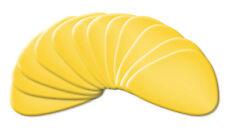 Superklasse 12x Plektren im gelben Design, traditioneller Form, in Stärke Medium