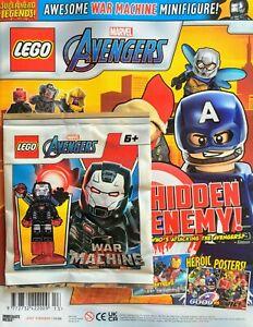 2021 LEGO Superhero Legends Marvel Avengers Magazine #13 War Machine Minifigure