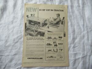 CAT Caterpillar D4  tractor magazine print ad