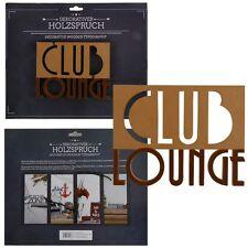 Holzschrift 3D Club Lounge 16,3 cm Holzbuchstaben Schriftzug Buchstaben Schild