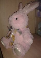 "17"" Plush Animated Pink Easter Bunny Bounces Around While Giggling Like a Child"