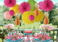 Paperjazz Tropical Honeycomb Pineapple Centerpiece Table  lantern fan Decoration
