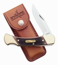 Old Timer 7OT Cave Bear EDC Hunting Folding Pocket Knife Lockback Folder +Sheath
