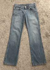 "POLO RALPH LAUREN Womens Size 2 Denim Blue Jeans 32"" Inseam Boot Cut G.I.V.E."