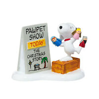 Dept 56 Peanut Village - Snoopy's Christmas Pawpet Show  - NIB -- Free Shipping