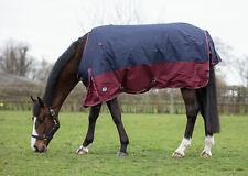 "Jumpers Horse Line/JHL Mediumweight Turnout Rug 6'3"" Navy/Burgundy"