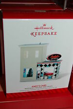 Hallmark 2014 House Andy's Cars Shops series 31st Ornament