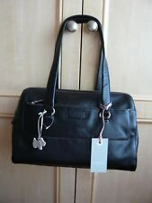 RADLEY ODESSA LARGE BLACK LEATHER BARREL SHOULDER BAG -BRAND NEW RRP £209