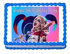 Suicide Squad Harley Quinn party edible cake image cake topper frosting sheet