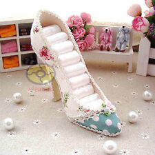 "5""tall High Heel Shoe Jewelry Ring Holder Storage Display Organizer Stand"